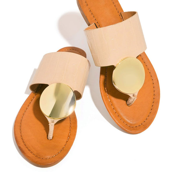 Big Medallion Slippers - Flip Flop Labs