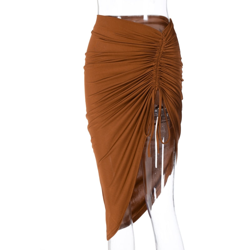 Ruched Bodycon Midi Skirt - Flip Flop Labs