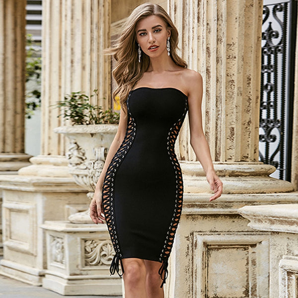 Strapless Bandage Bodycon Mini Dress - Flip Flop Labs