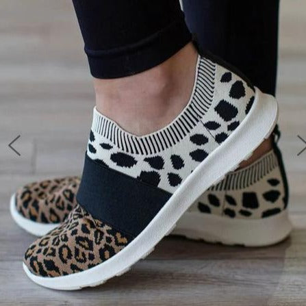 Light Knitted Leopard Sneakers - Flip Flop Labs