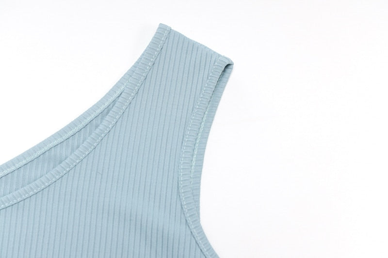 Ribbed Knitted High Split Midi Dress - Flip Flop Labs