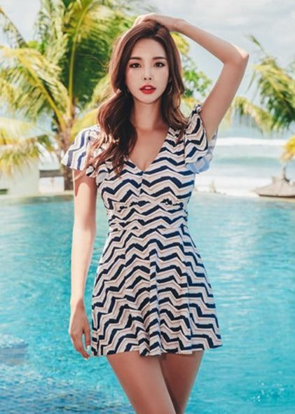 Retro Swimsuit Dress