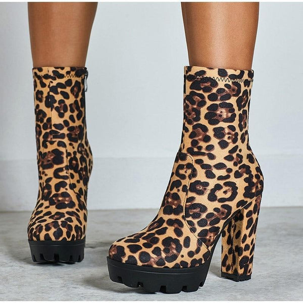 Chunky Zip Ankle Boots
