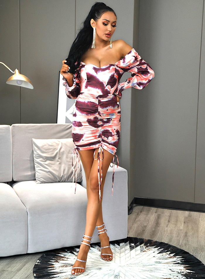 Off-Shoulder Bodycon Mini Dress