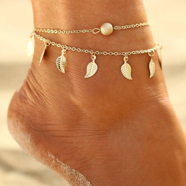 Summer Beach Double Anklet - Flip Flop Labs