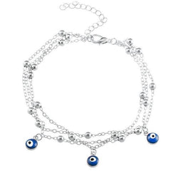 Turkish Eyes Bead Anklet - Flip Flop Labs