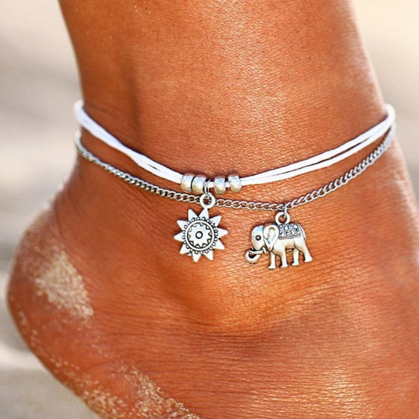 Boho Pendent Double Layer Anklet - Flip Flop Labs
