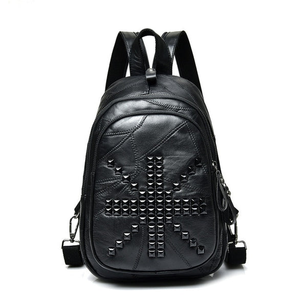 Rivet Leather Backpack - Flip Flop Labs