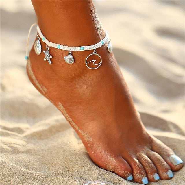Bohemian Starfish Stone Anklet - Flip Flop Labs