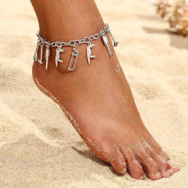 Silver Charms Anklet - Flip Flop Labs