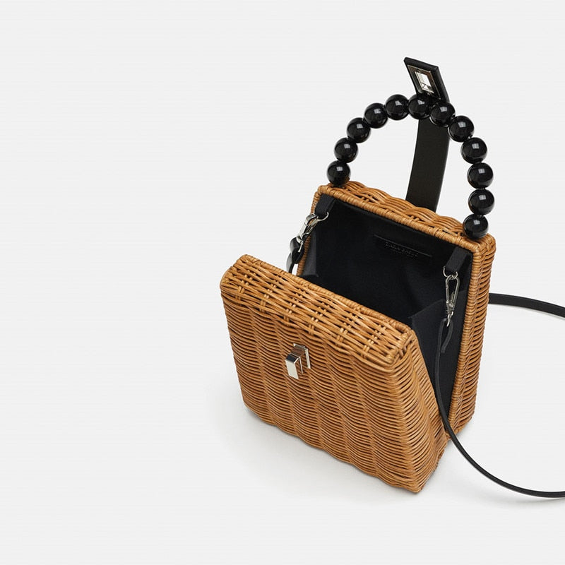 Bead Hand-woven Straw Bag - Flip Flop Labs