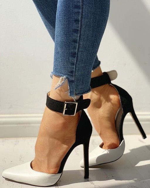 Ankle Buckle Pointy Pumps - Flip Flop Labs