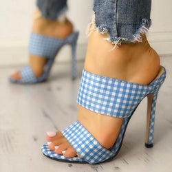Checkered Bandage Pumps - Flip Flop Labs