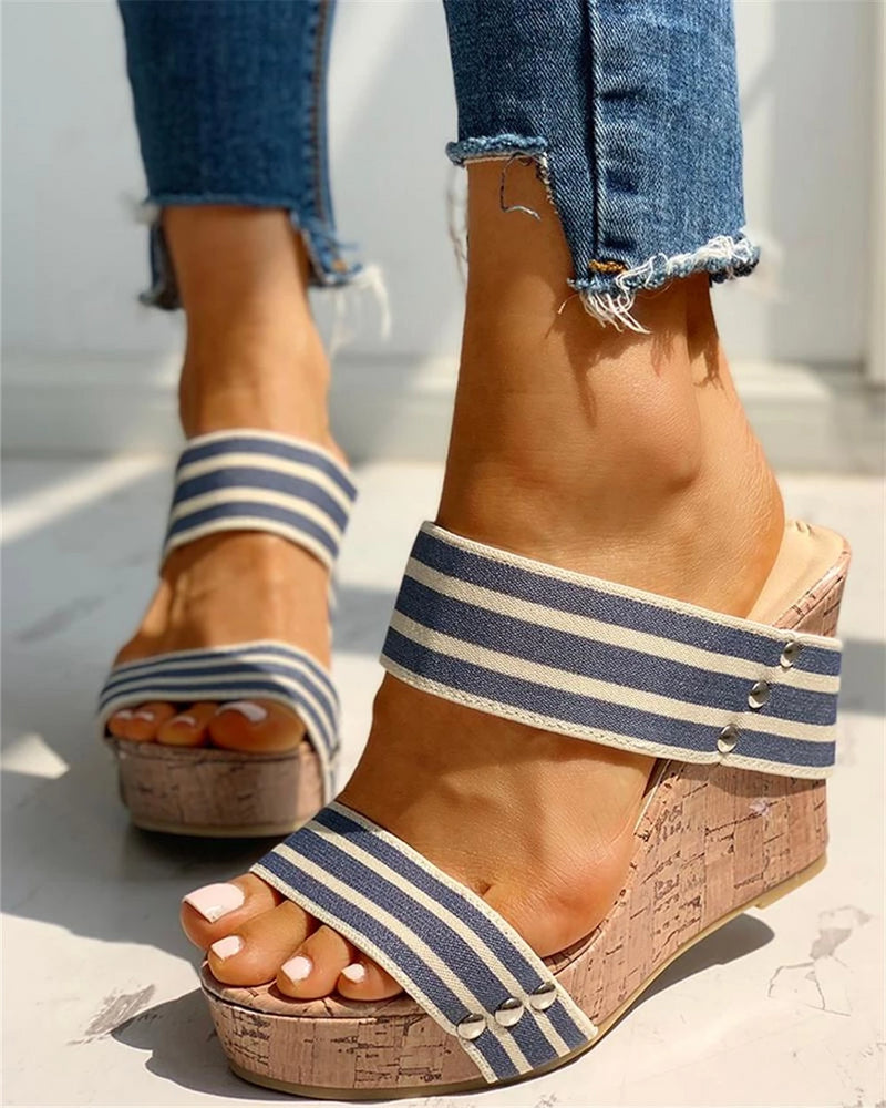 Double Strap Slip-on Wedges - Flip Flop Labs