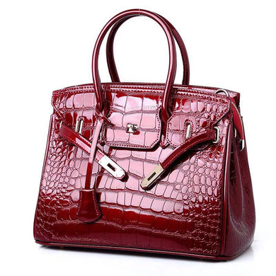 Kylie croc large bag / Red