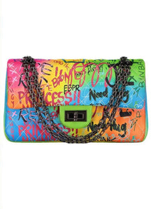 Jade Neon Graffiti bag