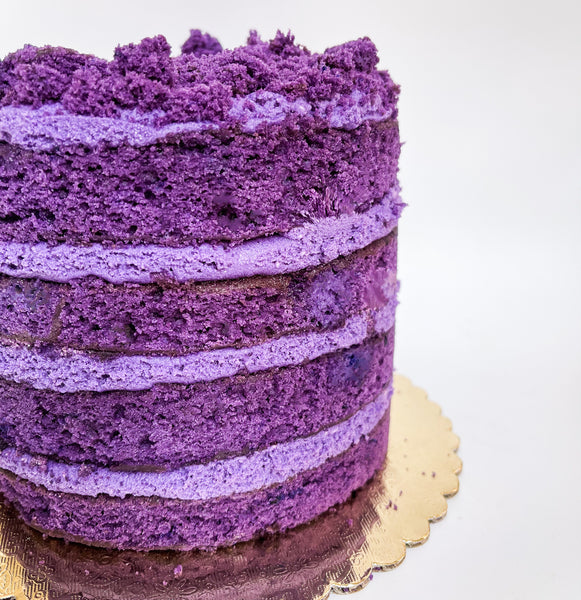 Ube naked layered cake
