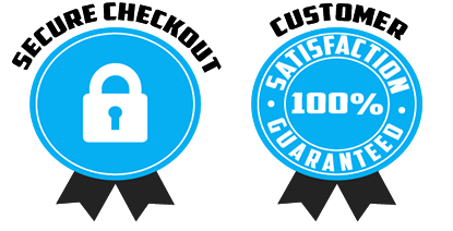 Secure Checkout and Customer Satisfaction Guaranteed Badges by Simpler-Days.com