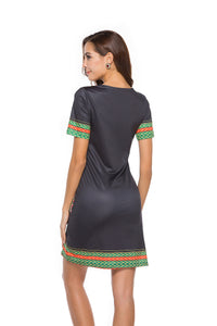 Short-Sleeve-V-Neck-Party-Wrap-Mini-Dress