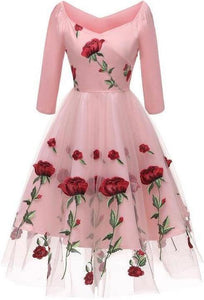 Rose-Embroidered-Maxi-Length-Dress