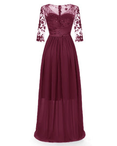 Flower Lace Embroidery Maxi Dress for Evening or Dinner