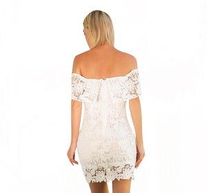 Slim-Thin-Skirt-Openwork-Halter-Lace-Wrap-Dress