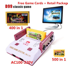 Load image into Gallery viewer, 2017 New Subor D99 Video Game Console Classic Family TV video games consoles player with 400 IN1+ 500 IN1 games cards for choose