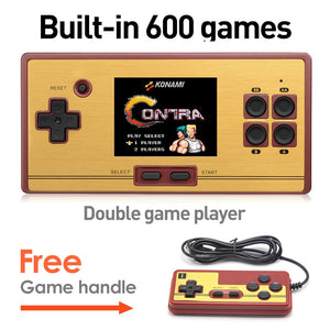 Hot Sale 2.6 Inch Retro Handheld Game Console Portable video Game Console Classic Free 600 Games Free Game Handles Gift for kid