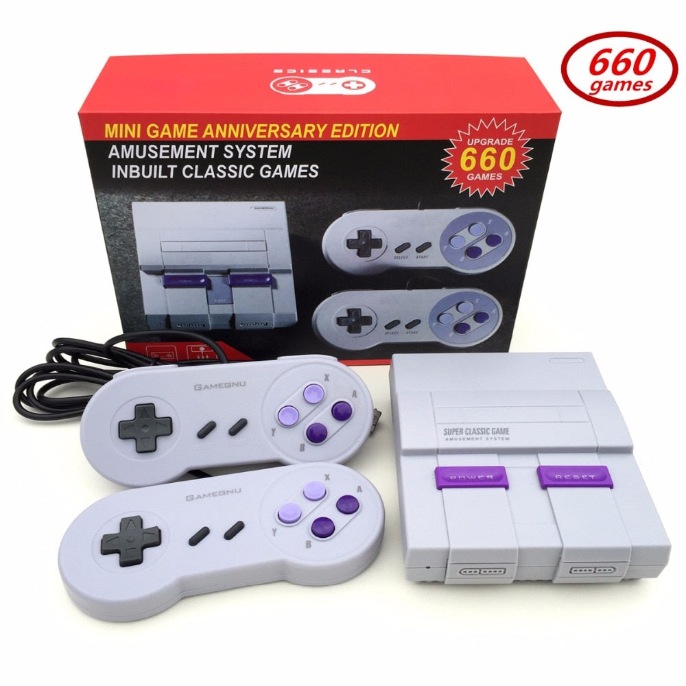 Mini TV Video Game Console Handheld Retro Family Game Console Built-In 660 Games Classic games Dual controller