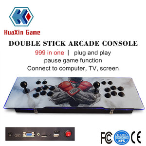 Classic Game Box Arcade Game Console 1388 Retro Classic Games Metal Double Stick  Video Console Support HDMI / USB / VGA Output