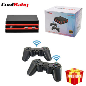 Coolbaby HDMI Video Game Console With 2.4G two Wireless Controllers 600 Classic Games For GBA/SNES Family TV Retro Game Console