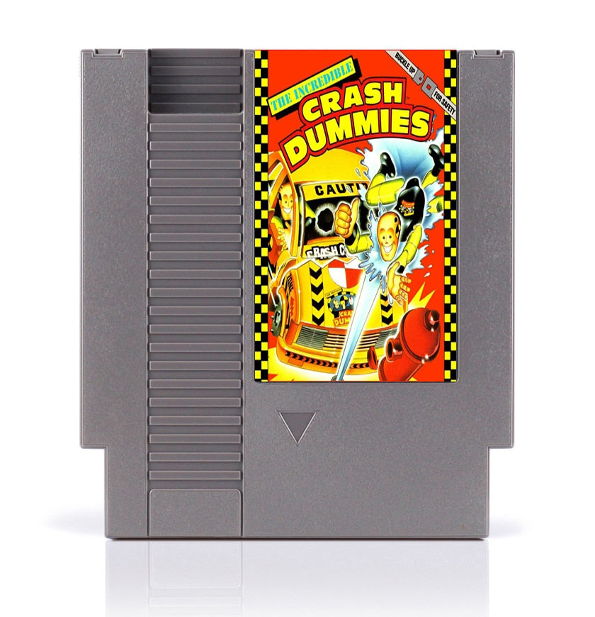 Incredible Crash Dummies 8 Bit Game Card for 72 Pins Game Console