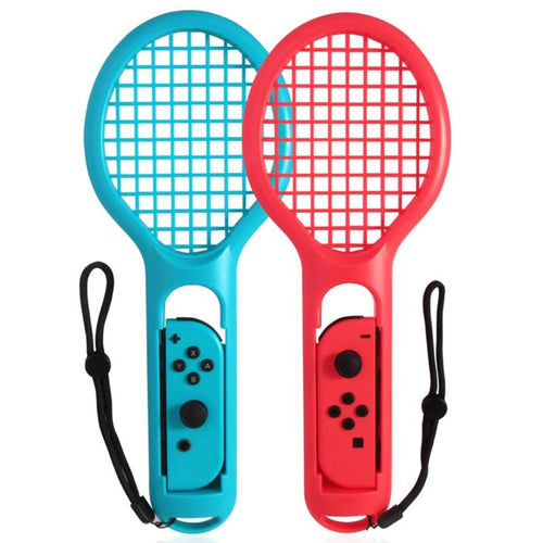 2pcs Tennies Gaming Sensor ABS Tennis Racket Game Console Handle Controller for Nintend Switch NS JOY-CON