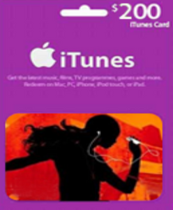 iTunes $200 Gift Card