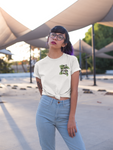 Woman wearing Anti Boba Boba Club Shirt