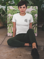Woman wearing Anti Boba Boba Club in Lychee White - Anti Social Social Club Parody
