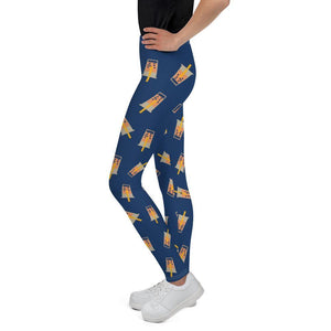 Kids wearing Boba Leggings side view