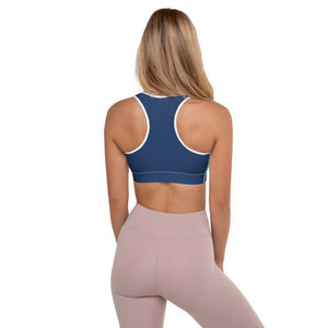 Back of a Boba Sports Bra with a woman wearing yoga pants