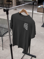Anti Boba Boba Club Shirt against a hanger