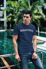 Man wearing Bobafornia T-Shirt