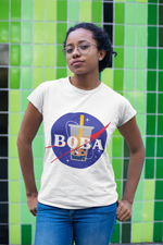Space Boba Shirt Mockup worn by a woman - NASA parody