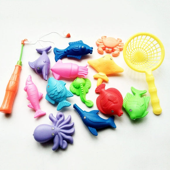 Mini Fishing Rods and Floating Fish Bath Set
