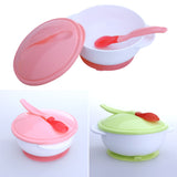 Suction Baby Bowl w/ Temperature Spoon Tableware Set