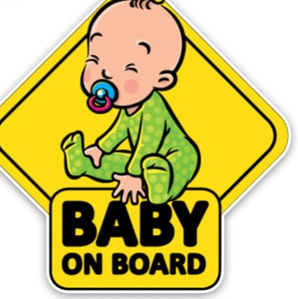 Baby On Board Car Sticker - Runtz PlayPin