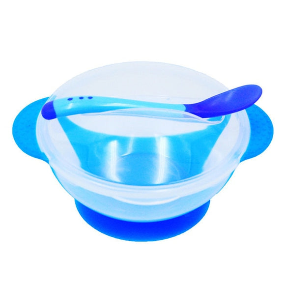 Slip-Resistant Suction Bowl & Spoon Set