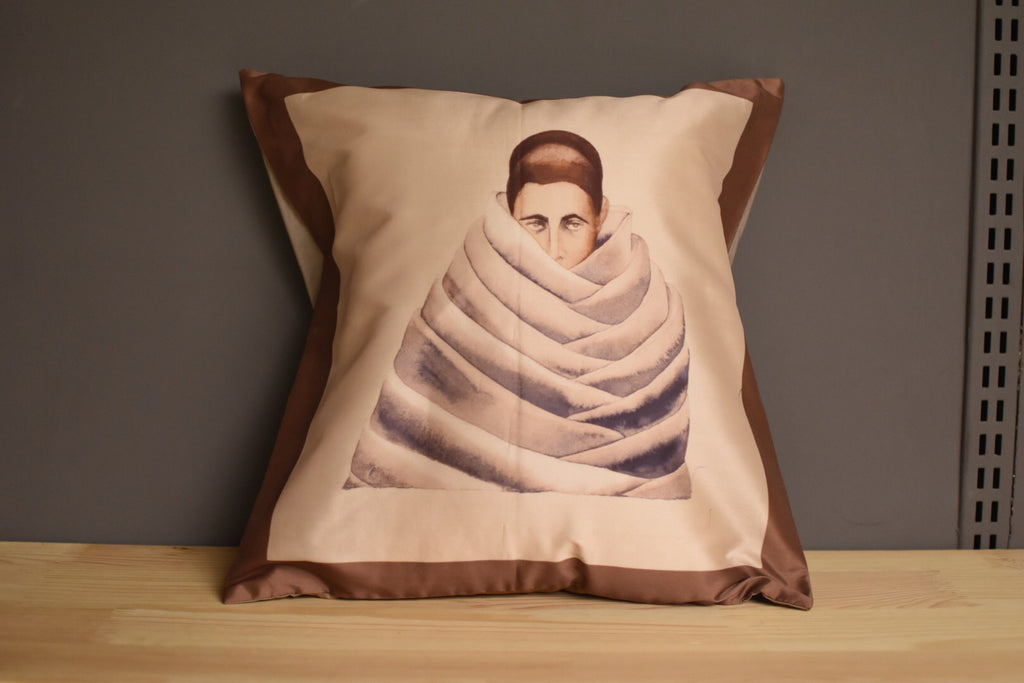 Anju Dodiya Cushion Cover Brown Colour