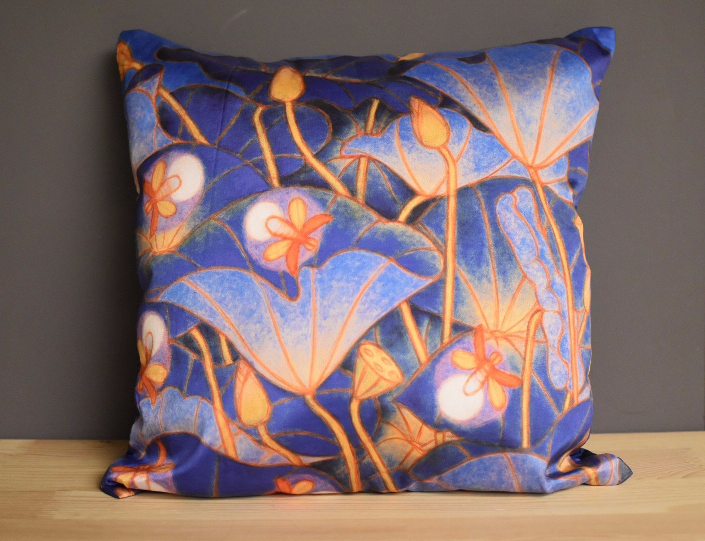 A Ram Chandran Cushion Cover Blue