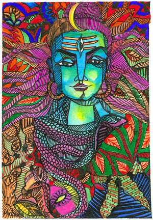 Malvika Reddy - Rudra - Archival Ink On Archival Paper - Limited Edition