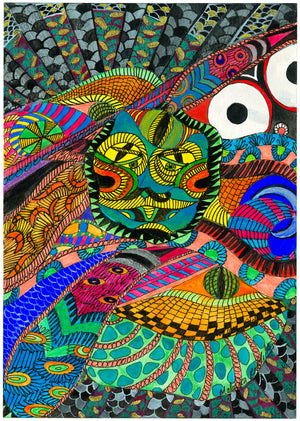 Malvika Reddy - The 3rd Eye - Archival Ink On Archival Paper - Limited Edition