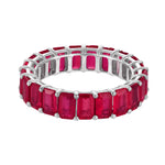 5x3 Emerald Cut Ruby Eternity Band